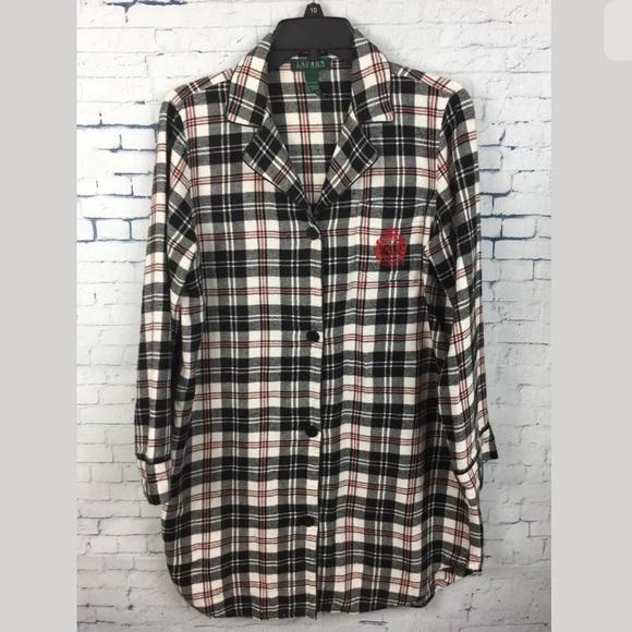 464e342370 Lauren Ralph Lauren Other - Ralph Lauren Women s Flannel Sleep Shirt Plaid